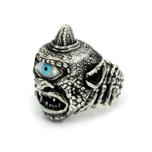 right side of the Cyclops Ring in silver from the han cholo fantasy collection