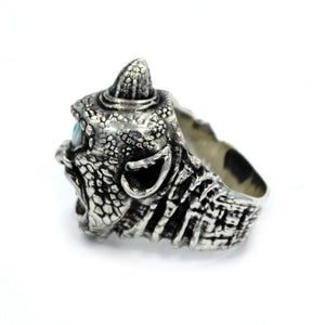 side view of the Cyclops Ring in silver from the han cholo fantasy collection
