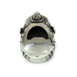 back view of the Cyclops Ring in silver from the han cholo fantasy collection