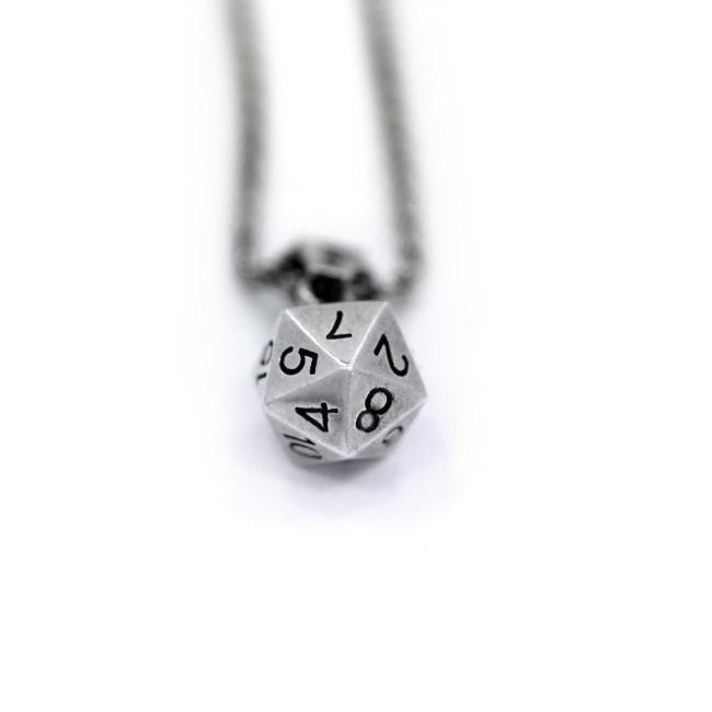 D20 Pendant Sterling .925 Pm Necklaces