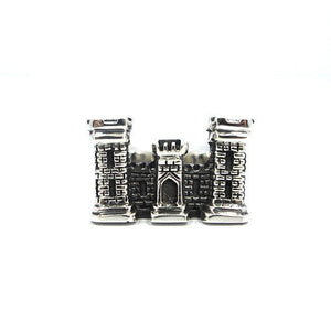 front of the Dark Castle Ring in silver from the han cholo fantasy collection
