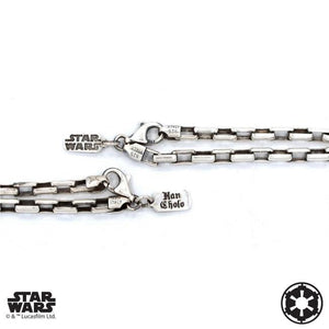 chain detail of the darth vader Pendant from the han cholo star wars collection