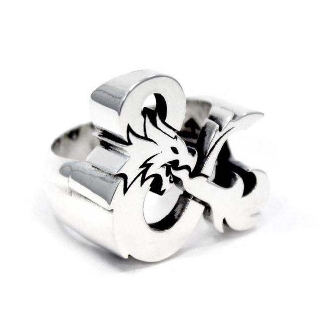 D&D ring,dungeons and dragons,dragon ring,ampersand ring,D&D accessory,D&D jewelry