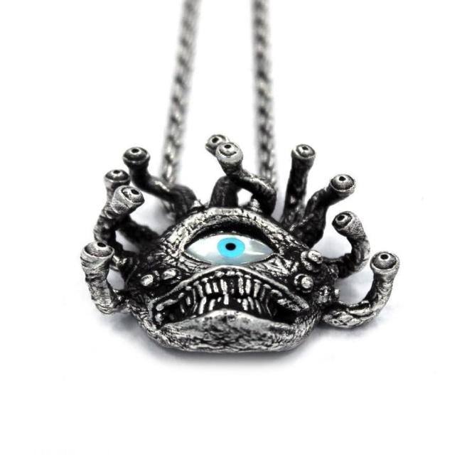 D&D Beholder,D&D jewelry,D&D pendant,D&D necklace
