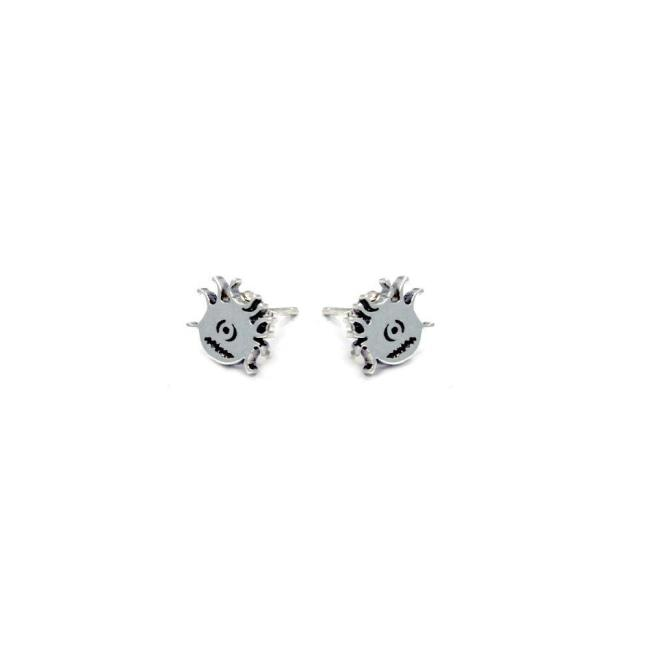 D&d Beholder Stud Earrings Silver / O/s Ss Earrings
