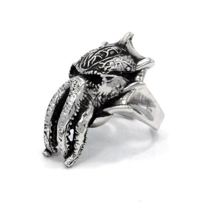 D&d Mind Flayer Ring Silver / O/s Ss Rings