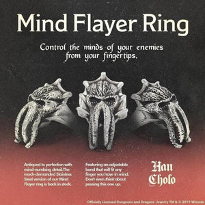D&d Mind Flayer Ring Ss Rings