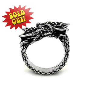 D&d Twin Dragon Ring Silver / O/s Ss Rings