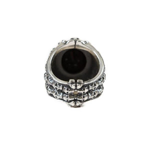 back of the Dead Ringer Ring in silver from the han cholo skulls collection