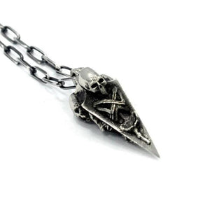 Death Spike Pendant Sterling .925 / 24 Pm Necklaces
