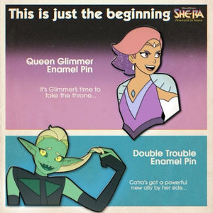 Double trouble Enamel Pin, Queen glimmer enamel pin from she-ra and the princesses of power ad