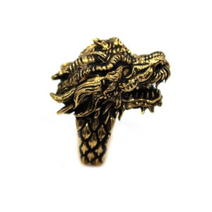 right side of the Dragon Ring in gold from the han cholo fantasy collection