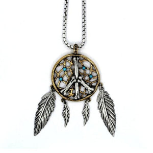 Dream Catcher Pendant Sterling .925 Pm Necklaces