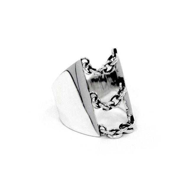 Drip Chain Ring Sterling .925 / 6 Pm Rings
