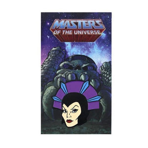 front of the Evil-Lyn Enamel Pin from the masters of the universe jewelry collection