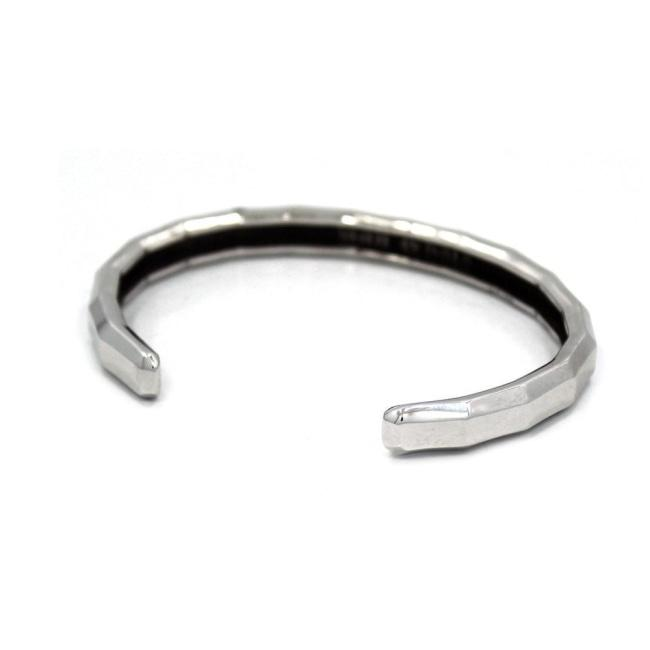 Faceted Bangle Sterling .925 / One Size Pm Bracelets