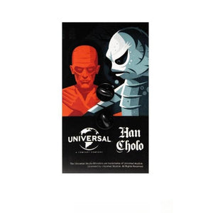 back of the Frankenstein Enamel Pin on an officially licensed universal monsters pin card