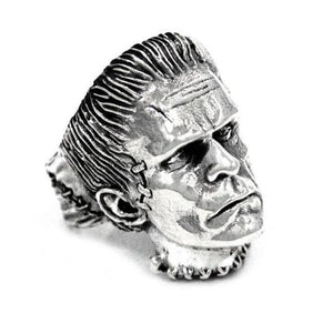 right side angle of the Frankenstein Ring from the universal monsters jewelry collection