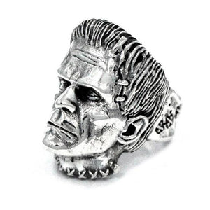 left side angle of the Frankenstein Ring from the universal monsters jewelry collection