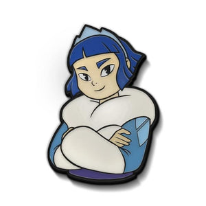 front of the frosta enamel pin from she-ra and the princesses of power