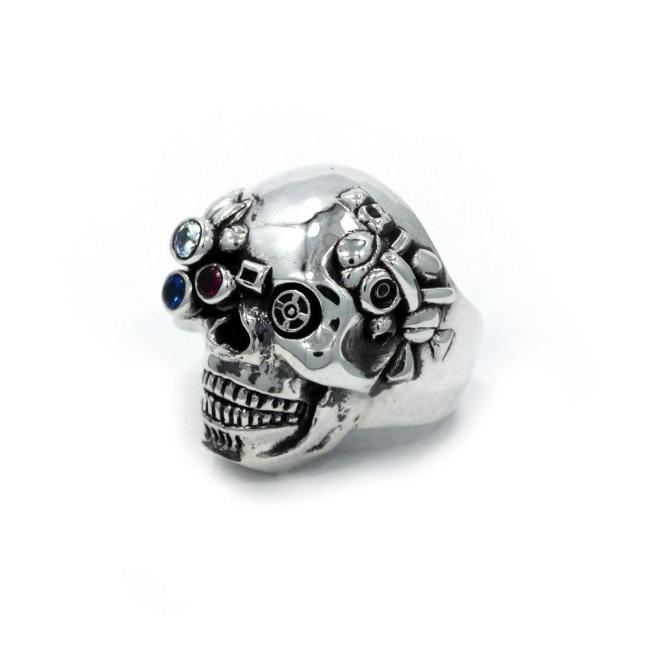 front of the Future Human Ring in silver from the han cholo fantasy collection