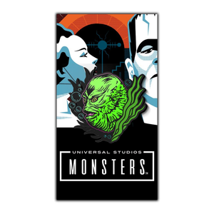 Creature from the black lagoon Enamel pin, classic universal monsters apparel