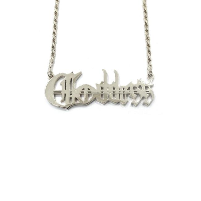 Goddess Name Plate Pendant Vermeil Pm Necklaces