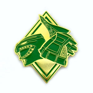 Green Ranger Dragonzord Gold Armor Pin Enamel