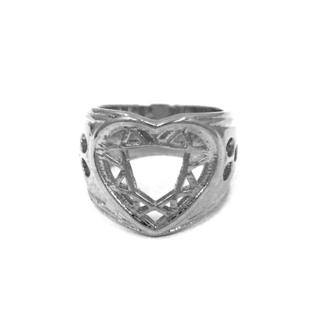 Heart Cutter Ring Gold / 5 Ss Rings