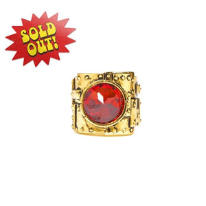 Heavy Metal Ring Gold/red Cz / 6 Ss Rings