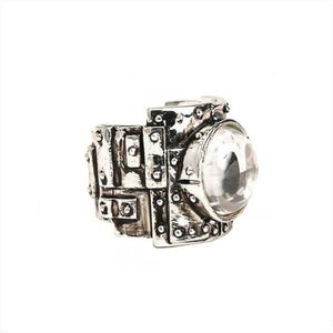 Heavy Metal Ring, Stone Ring, Metal Ring, Rock and Roll Ring, Han Cholo Ring, Mens Ring