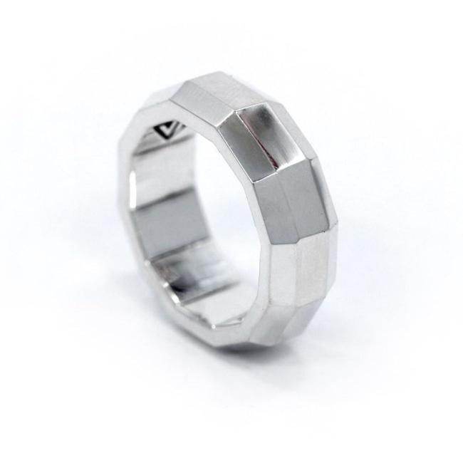 His Faceted Band Sterling .925 / 9 Pm Rings
