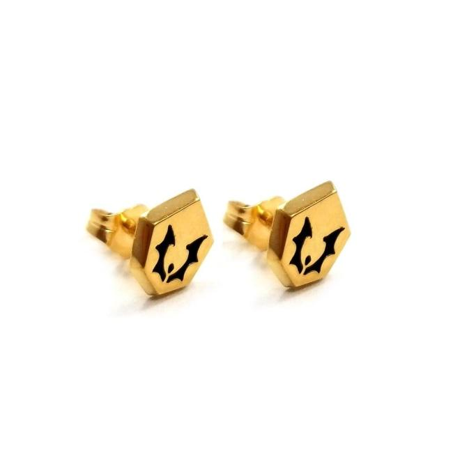 Horde Symbol Stud Earrings Vermeil / O/s Pm Earrings