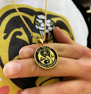 Cobra Kai All Valley Karate Champion Gold Medallion Pendant