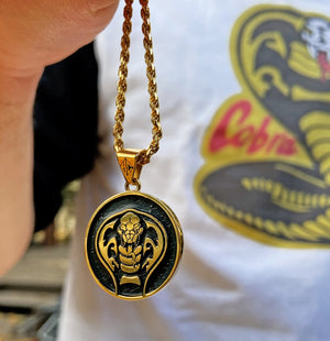 Cobra Kai Gold Pendant Necklace