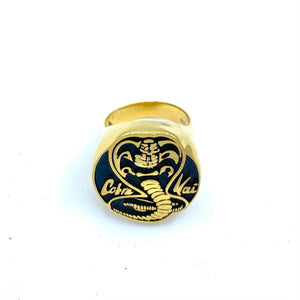 cobra kai ring, gold ring, karate ring, cobra kai merch, cobra kai gift, cobra kai jewelry