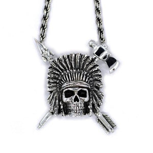 Indian Chief Necklace Sterling .925 Pm Necklaces