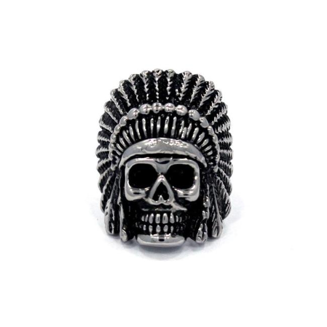 Indian Chief Ring, indian skull, indian ring, skull ring, native american ring, han cholo ring