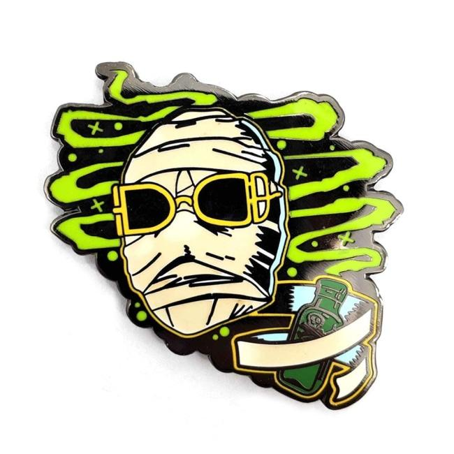 front view of the Invisible Man Enamel Pin from the Universal Monsters jewelry collection