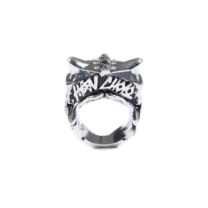 back of the Lazarus Ring in silver from the han cholo fantasy collection