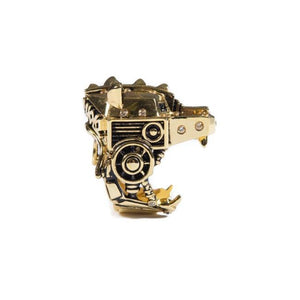 right side of the Lazarus Ring in gold from the han cholo fantasy collection