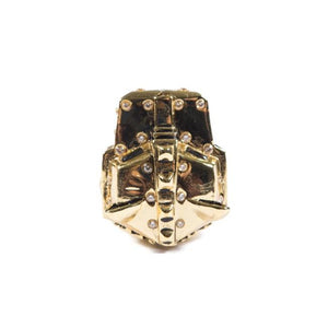 top of the Lazarus Ring in gold from the han cholo fantasy collection