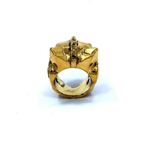 back of the Lioness Ring in gold from the han cholo fantasy collection