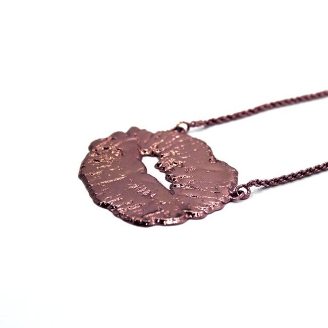 Lips Necklace Rose Gold / 18 Pm Necklace