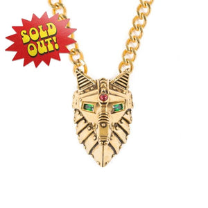 front of the Lobo Necklace in Gold from the han cholo fantasy collection