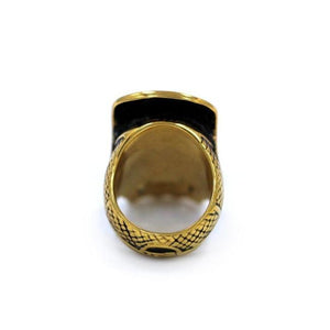 back of the Loco Skull Ring in gold from the han cholo music collection