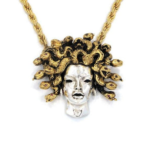 Medusa Pendant Silver/gold Pm Necklaces