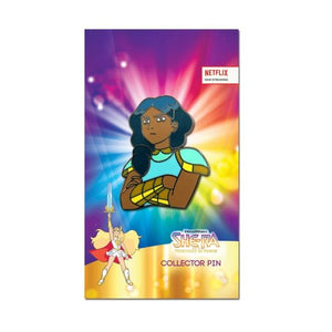 front shot of the mermista enamel pin on the officially licensed she-ra pin card
