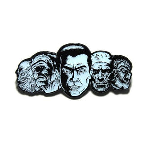 front of the monster squad enamel pin from the universal monsters jewelry collection