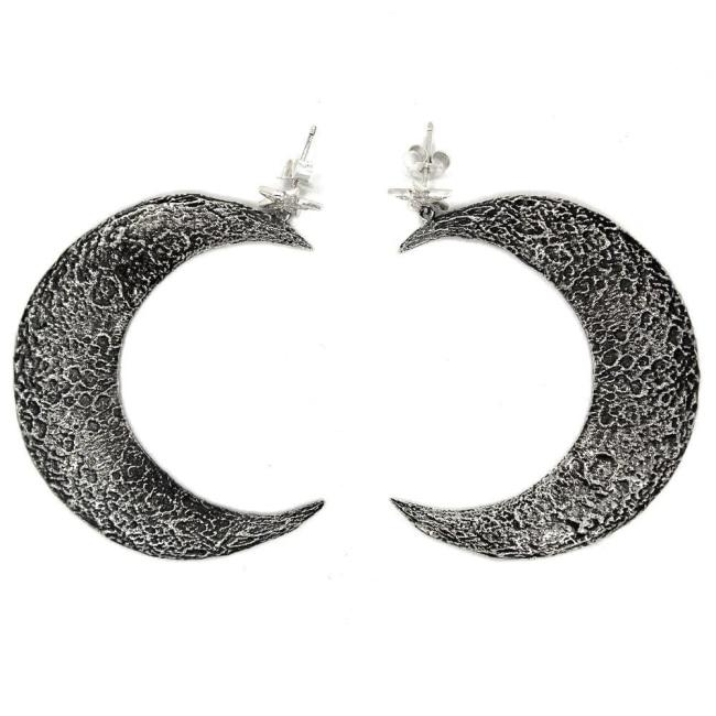 Moon Earrings Sterling .925 / One Size Pm Earrings